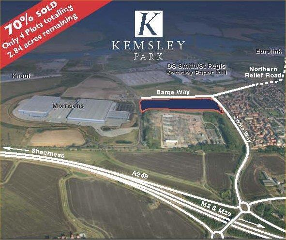 FREEHOLDS FOR SALE OR TO LET - BESPOKE 'DESIGN AND BUILD' SOLUTIONS AND PLOT SALES AVAILABLE Kemsley Park, Kemsley Field Business Park, Barge Way, Kemsley, Sittingbourne, Kent