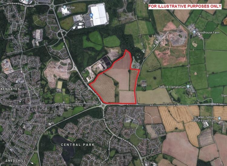 Development Land at corner of Redhill Way, A5 Telford