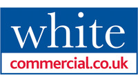 White commercial   logo with tel